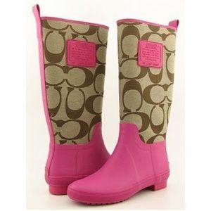 Coach Rain Boots - Size 7